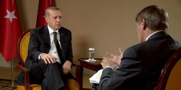 Erdoğan Charlie Rose'a konuştu